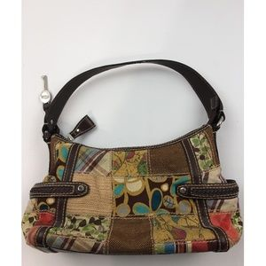 Fossil Fabric Leather Floral Purse Shoulder Bag